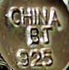 Recent Chinese Jewelry marks