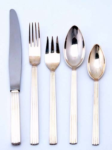 EPNS (Electro-Plated Nickel-Silver) Flatware by Georg Jensen ca 1930s