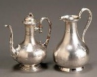 French Silver Coffeepot and Ewer