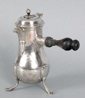 French silver chocolate pot