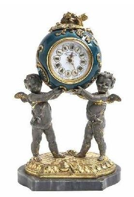 French Enameled Clock - ca late 19thC