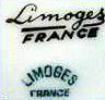 Generic 20thC LIMOGES porcelain marks used by many companies