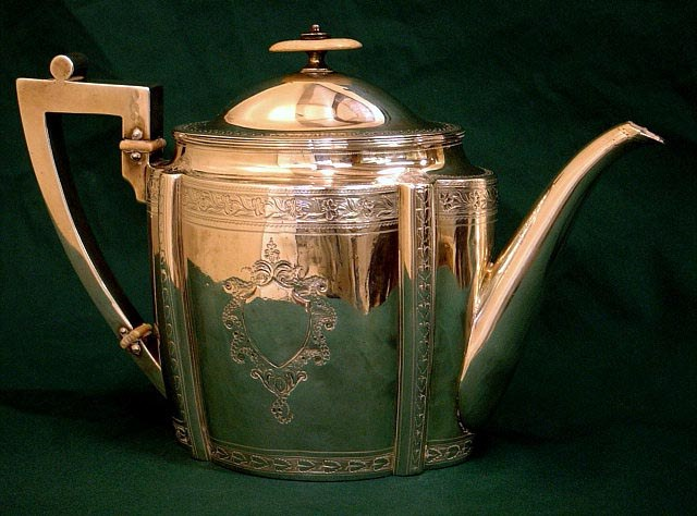 Georgian-antique-silver-teapot