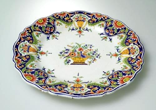 Rouen Faience Plate (19thC)