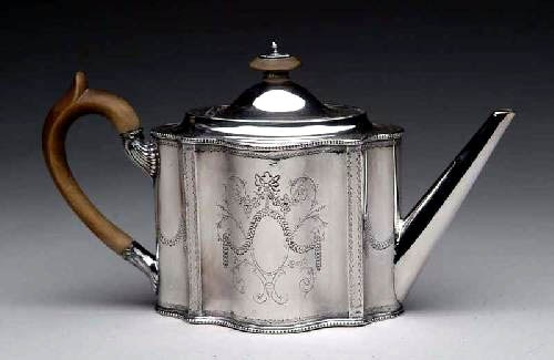 Sheffield Silverplated Teapot, ca 1780 - 1800