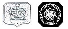 Sterling Silver Town marks for Sheffield Crown ca 1773 - 1973 and Rosette ca 1975 - Present
