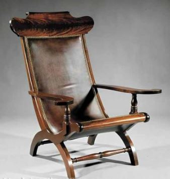 A Louisiana Carved Mahogany Campeche Chair, 20th c., Ruppert Kohlmaier, Sr. and Jr., New Orleans