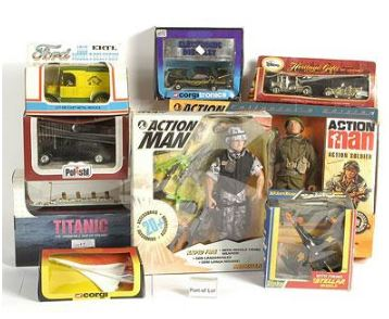Action Man sets and die-cast models