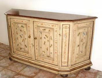 COUNTRY FRENCH STYLE PAINT DECORATED SIDEBOARD BUFFET
