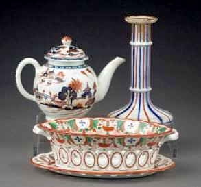 ENGLISH PORCELAIN ENAMEL-DECORATED, 19thC