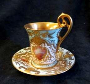 Early English bone-china Porcelain Cup & Saucer
