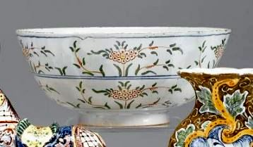 English delftware polychrome earthenware