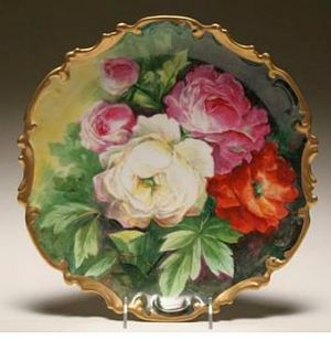 Limoges Coronet handpainted porcelain display wall plate