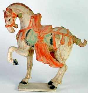 MODERN CHINESE REPRODUCTION OF A TANG HORSE