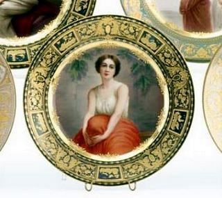 Royal Vienna porcelain cabinet plate, early 20thC