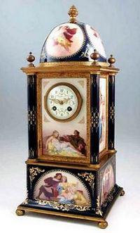 TIFFANY & CO. ROYAL VIENNA PORCELAIN CASE CLOCK
