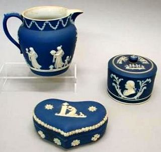 Wedgwood Jasperware grouping  -  signed WEDGWOOD