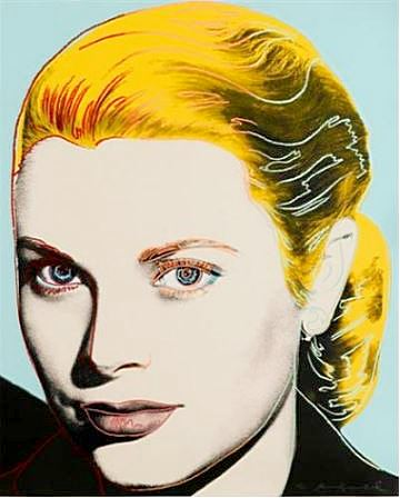 ANDY WARHOL 'GRACE KELLY' 1984 - Color Lithograph