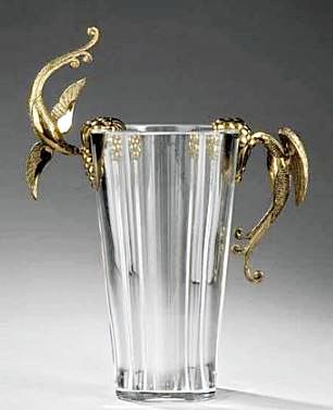 Baccarat Crystal and Bronze Vase