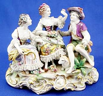 VOLKSTEDT GERMAN PORCELAIN FIGURAL GROUP