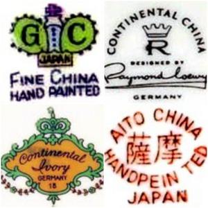 identify chinaware marks