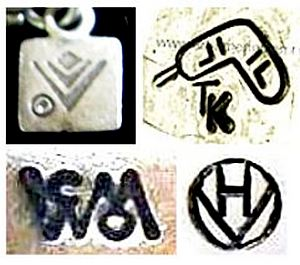 silver jewelry marks