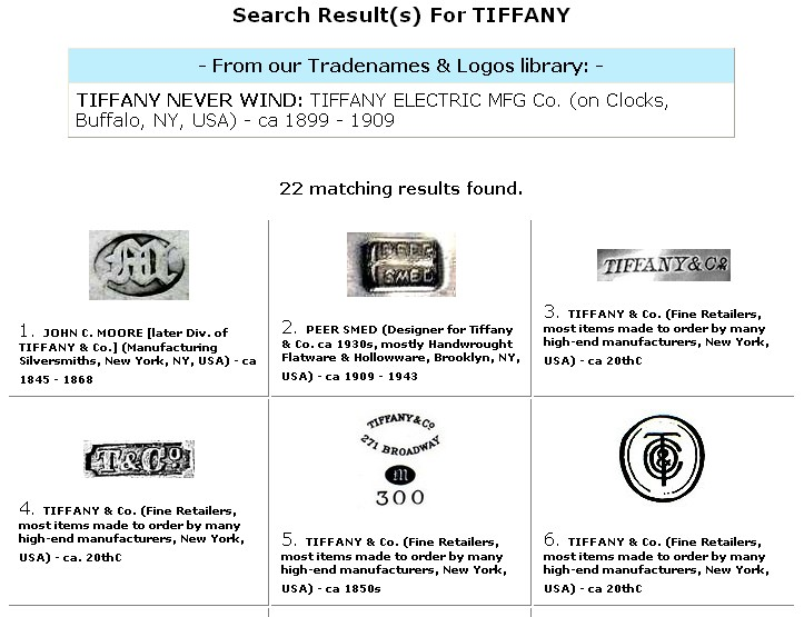 Example Of Silver Amp Jewelry Marks Name Search