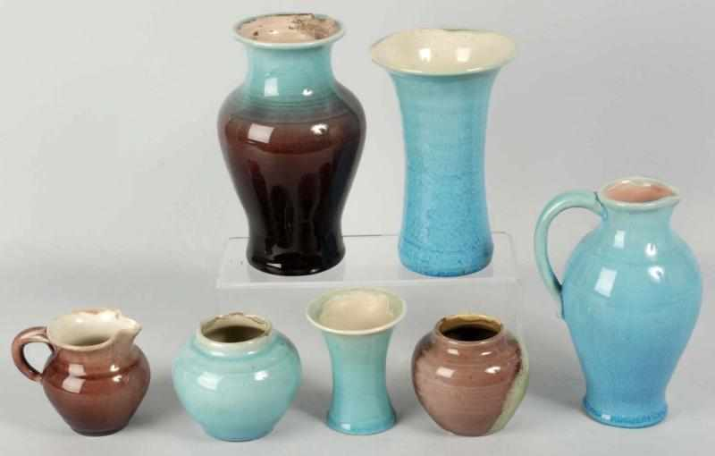 Lot of 7: Pisgah Forest Pottery Pieces. 