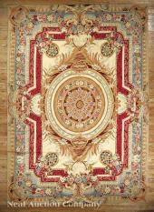 An Aubusson Carpet Cream Ground Central Stylized Prices