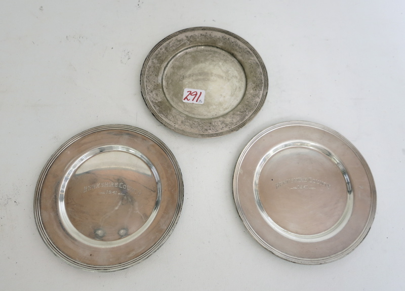 Set Of Three Sterling Silver Plates By Heather Mathews