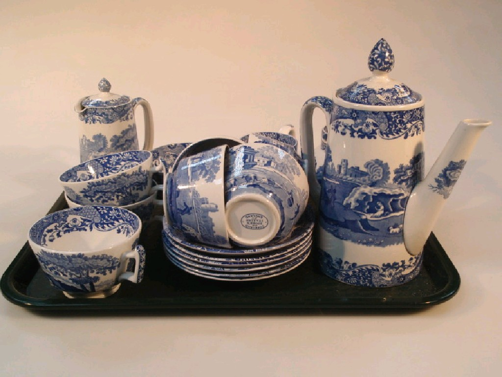A Copeland Spode Italian pottery part tea