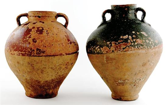 Italian pottery olive jars late 19th century