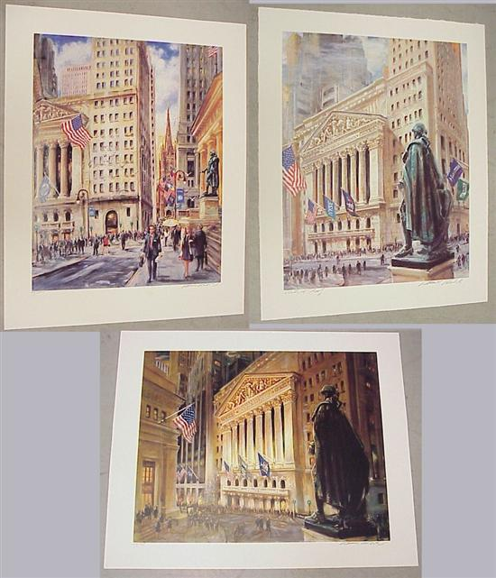 Three pencil signed Kamil Kubik prints: the
