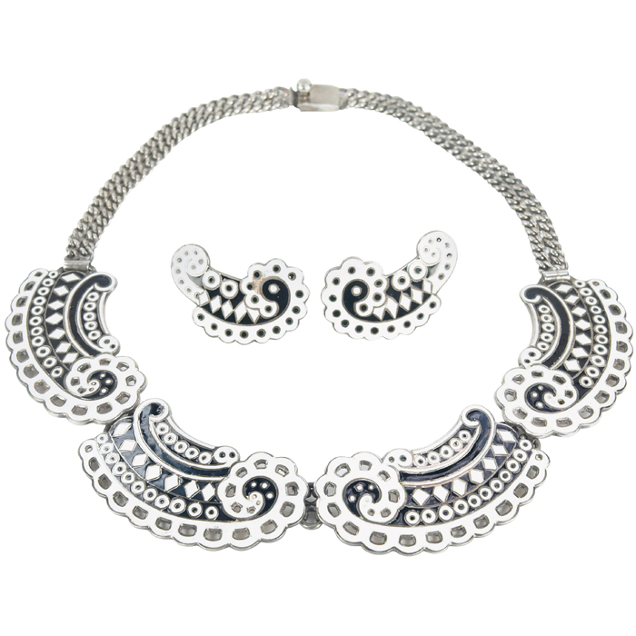 Margot de Taxco necklace and earrings set,