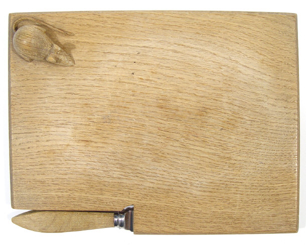 Robert Thompson Mouseman cheese board and