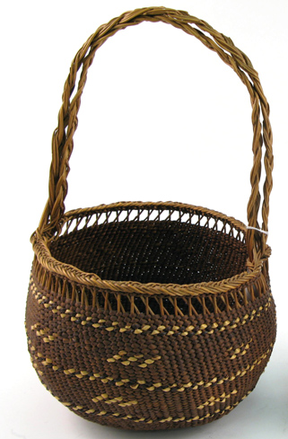 A SILETZ INDIAN GATHERING BASKET, twined