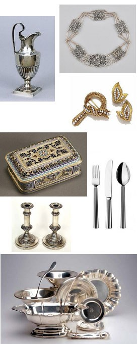 identify makers marks and hallmarks on silver, silverplate, jewelry, pewter and other precious or semi-precious metals