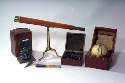A 19th century brass and silvered sextant,