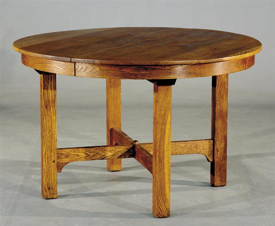 Price Guide For Gustav Stickley Round Oak Dining Table Circa