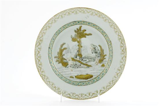 Chinese Export religious subject plate circa