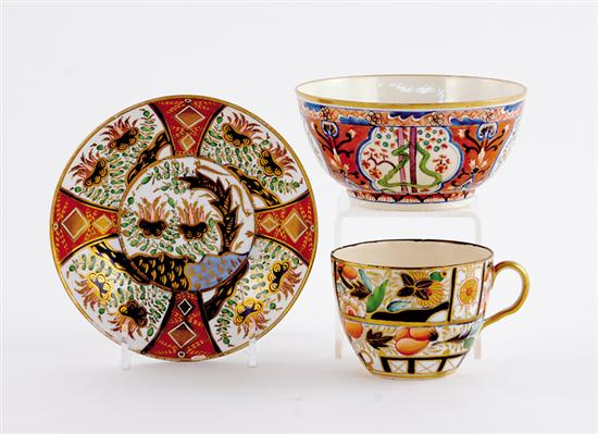 Early English bowl, cup and saucer late 18th/early