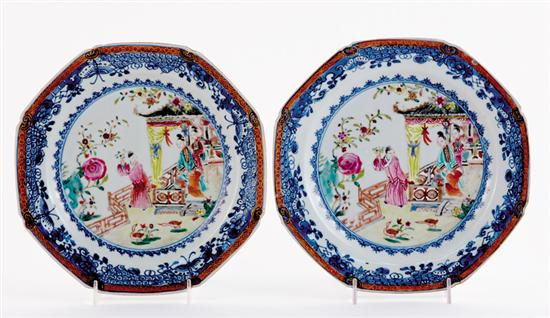Chinese Export famille rose plates and bowls