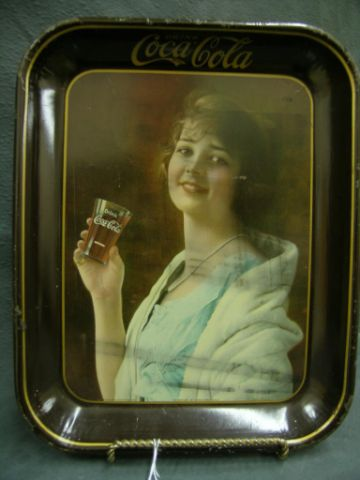 Price guide for Original 1923 Coke tray, Flapper Girl, surface