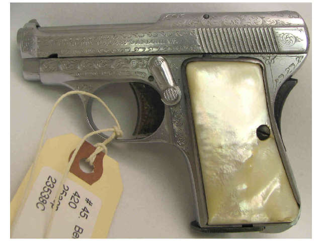 Price guide for P  Beretta small frame model 420(?),  25acp/6 35mm