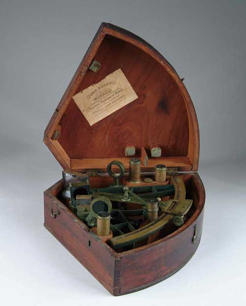 CASED BRASS SEXTANT BY SPENCER BROWNING &