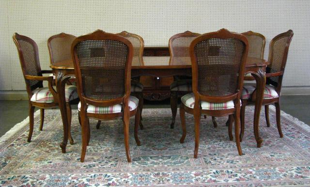 Century Furniture French dining room group,
