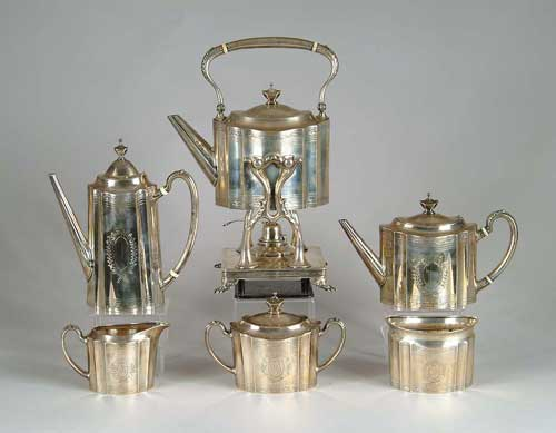 OUTSTANDING SIX PIECE STERLING SILVER COFFEE