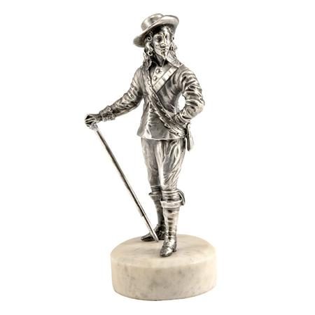Victorian Cast Silver Figure of Charles I