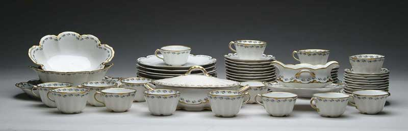 62-PIECE PARTIAL DINNER SERVICE BY THEODORE