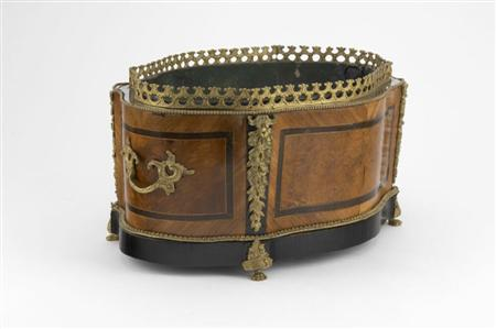A late 19th century French thuya wood and